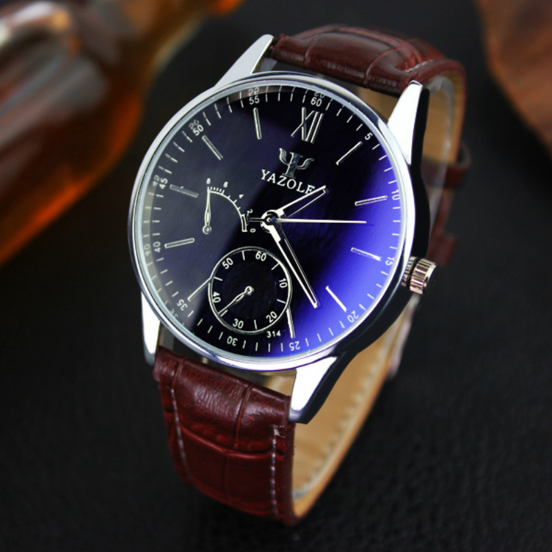 Yazole Watches Men Luxury Brand Waterproof Analog Stainless Steel