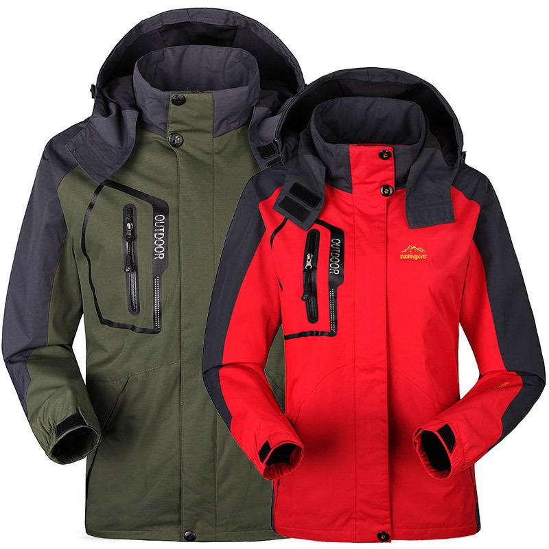 Men Winter Jacket Hoodie Coat Waterproof Windproof Outdoor Casual Sport Overcoat