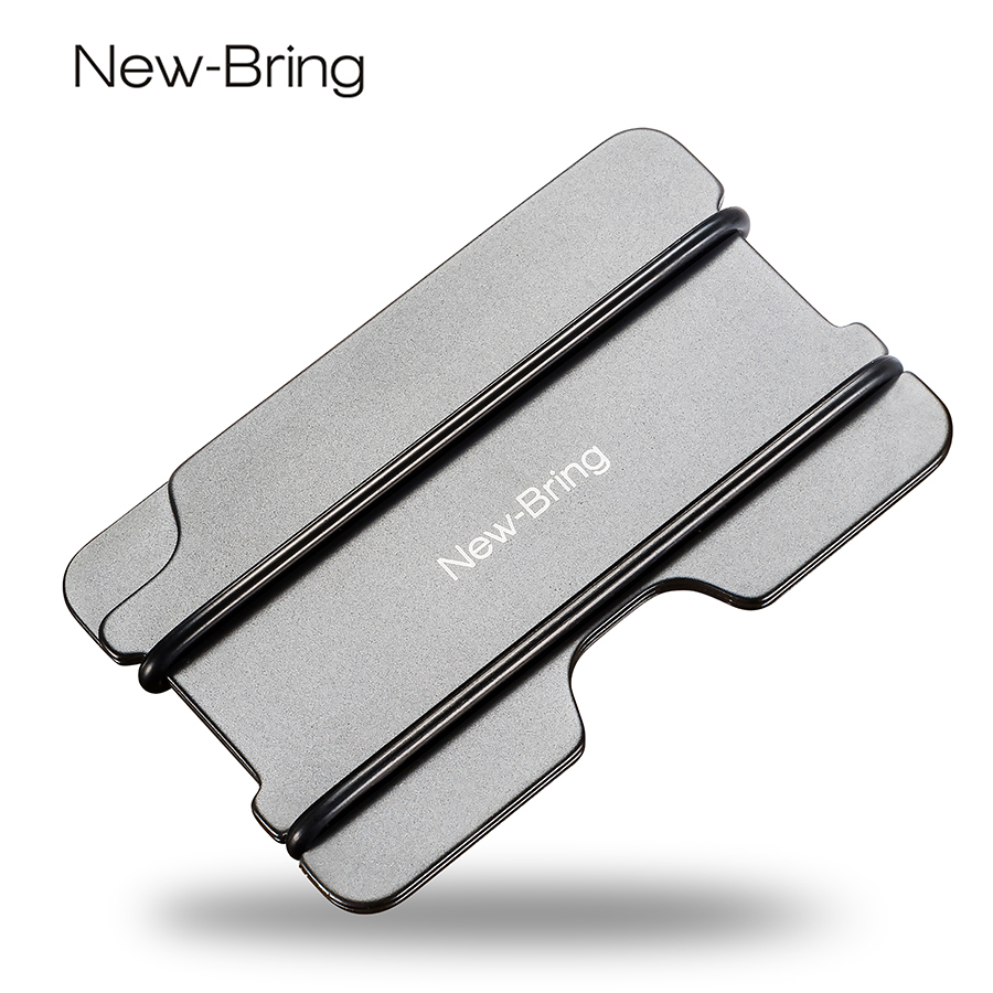 NewBring Fashion Metal ID Credit Card Holder Black Pocket Box ...