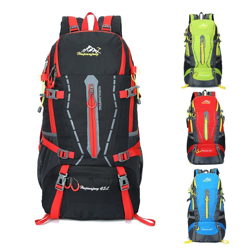 ec0d34f6f27d 40L Waterproof Women Men Travel Backpack Large Capacity Outdoor ...